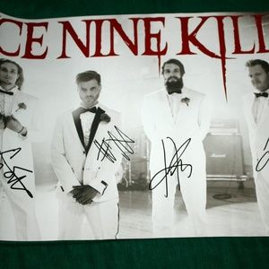Ice Nine Kills Signed Poster Warped Tour